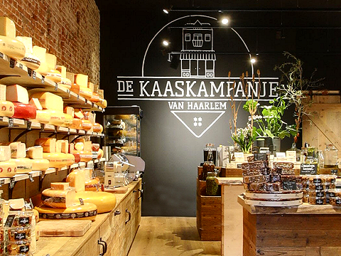 Kaas- en delicatessenzaak in Haarlem.